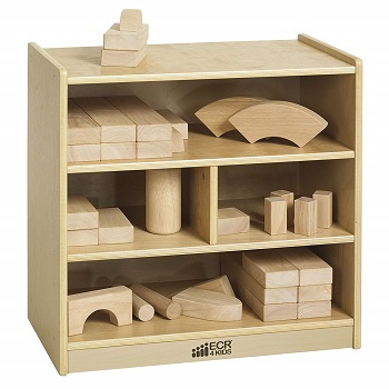 birch 4-cubby storage