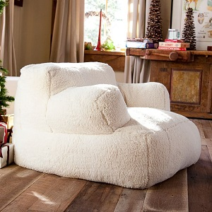 Ivory sherpa chair