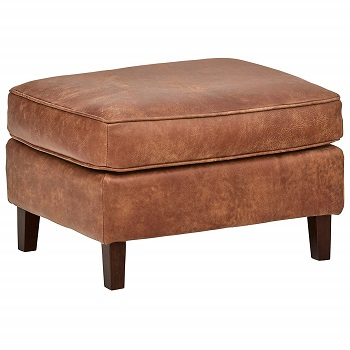 leather ottoman in colors