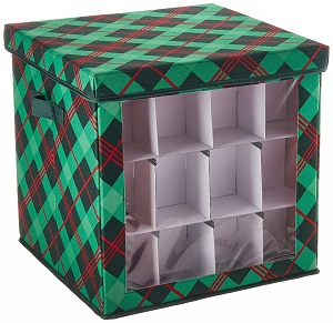 plaid ornament cube