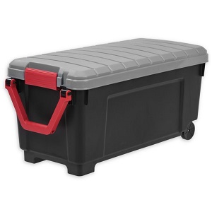 plastic rolling storage tote