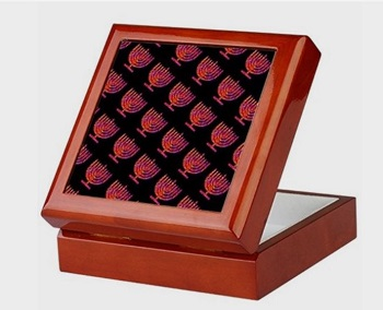 menorah keepsake box
