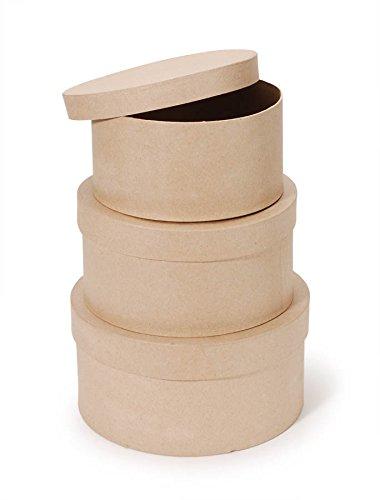 paper mache round boxes
