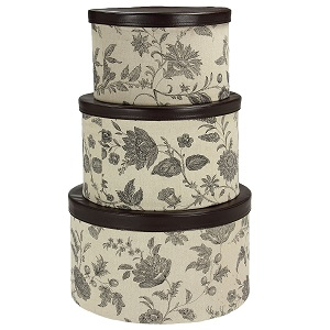 3-piece hatbox set