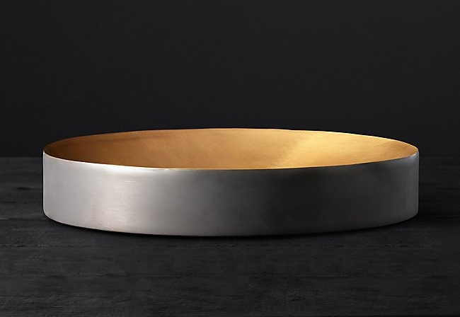 black & brass vessel tray
