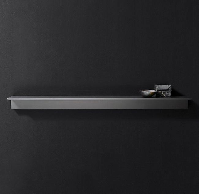 minimalist metal ledge in finishes
