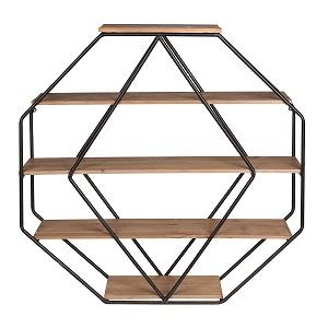 octagon floating shelves