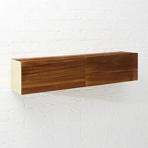 cb2 acacia wood storage