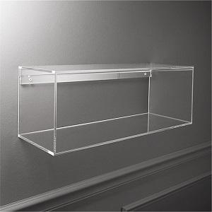 cb2 lucite shelf