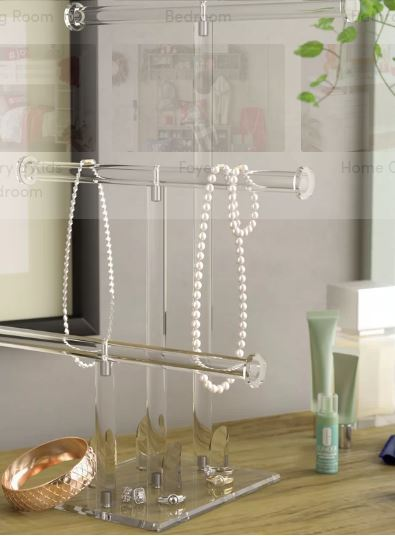 lucite jewelry stand