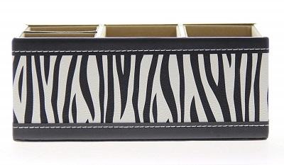 zebra print organizer