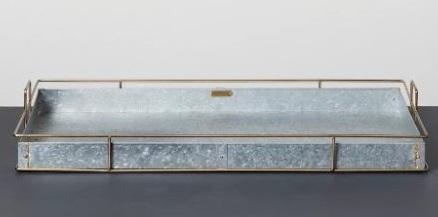 zinc boot tray