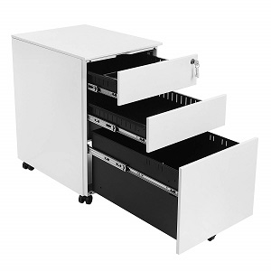 songmics cabinet in B/W