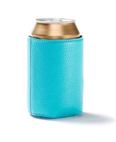 leather can cooler in colors