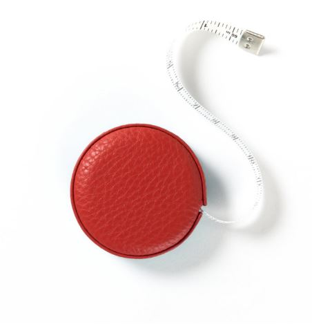 small leather measuring tape in colors