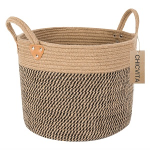 chicvita large jute basket