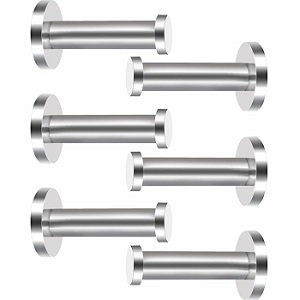 stainless wall-mount hooks