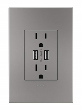 legrande USB magnesium outlet