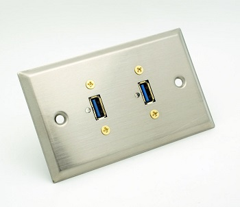 stainless USB wall plate