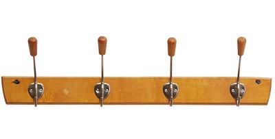 Maple/aluminum coat rack