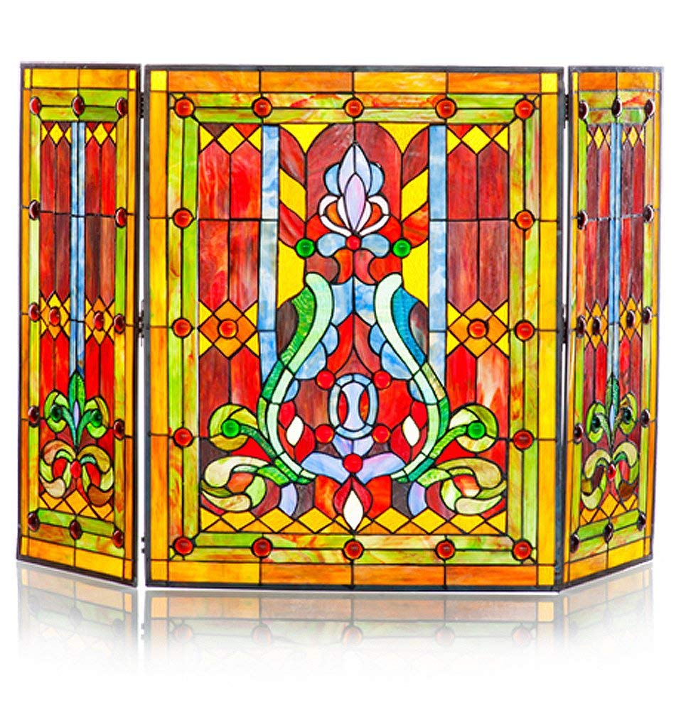 river of goods stained glass screen