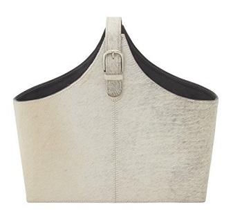 benzara leather hide holder