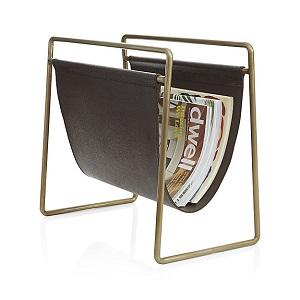 galen brass leather holder