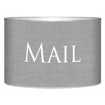 grey linen letter box
