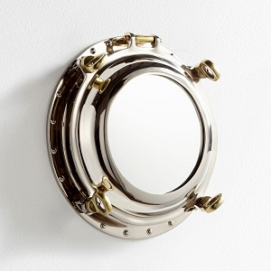 nautical inspired port hole mirror