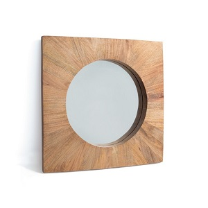 square wood sara mirror