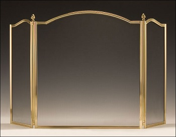 Lacquered Solid Cast Brass Screen