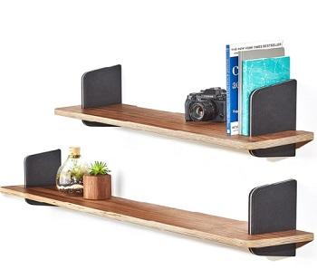 walnut wall shelf