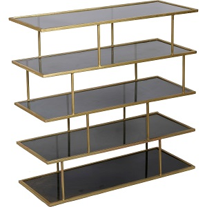 renwil iron-amber glass shelf