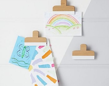 wooden wall art clips