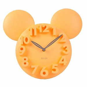 mickey mouse clock in colors