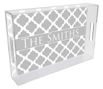personalized lucite tray