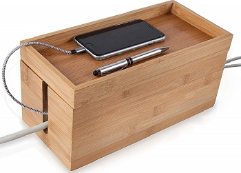 bamboo cable management box