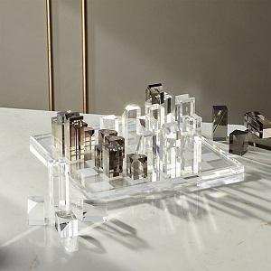 CB2 acrylic chess set