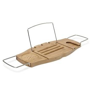 CB2 Wood bath caddy