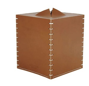 vegetable tanned leather box cover
