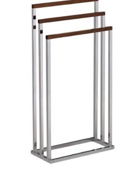 chrome/wood towel stand