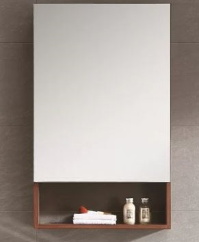 shelf w/medicine cabinet