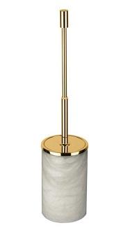 alabaster standing brush holder
