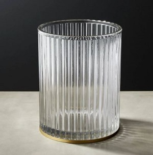CB2 ribbed glass basket