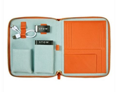 Stow's First Class Leather Tech Case