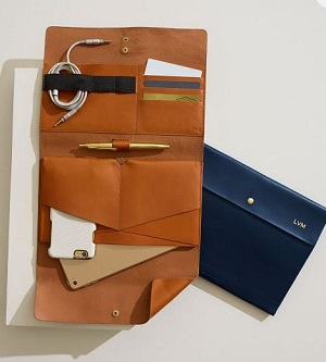 Mark & Graham Leather envelope in colors