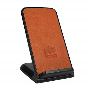 burkley leather charging stand