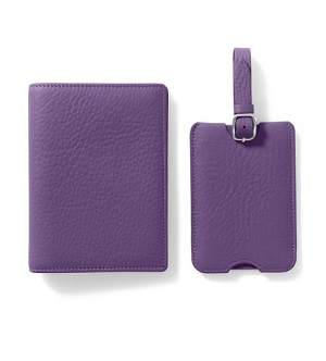 leather passport holder/luggage tag