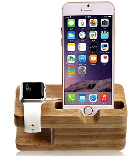 Hapurs bamboo charging stand