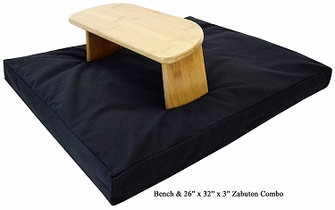 Meditation travel bench